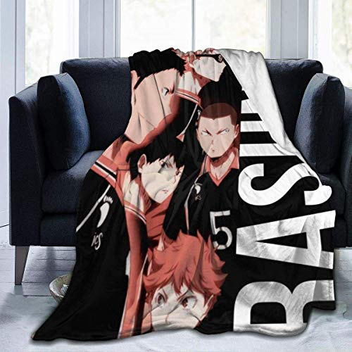shenguang Haikyuu Shoyo Hinata Ryunosuke Tanaka Kageyama Home Microplush Fleece Blanket-Throw/Travel-Ultra-Soft Velvet-Luxurious Fuzzy Fleece Fur-Cozy Lightweight-All Season Premium Bed Blan