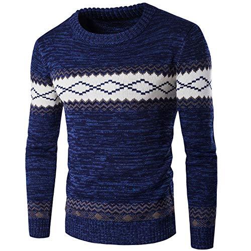 Maglione da Uomo Girocollo Lavorato a Maglia Moda Caldo Confortevole Quotidiano Casual Tendenza Pendolari Streetwear Essenziale Maglione XL