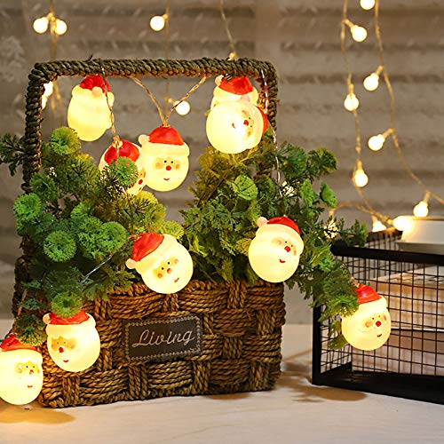 Bravedge Christams Ornaments Santa Lights, 5 Feet, 10 LED Santa Claus Lights Waterproof Santa String Lights for Christmas Party, New Year Holiday Decoration