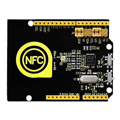 KEYESTUDIO NFC Wireless Sensor WIFI Board Module, R3 13.56mHz PN532 RFID IC Card Reader Module NFC Board for Arduino Raspberry PI