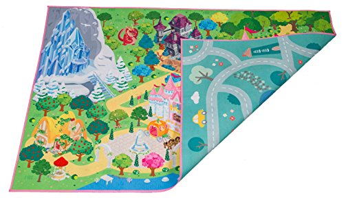 Kids Double Sided Felt Play Mat - 2 in 1 Indoor/Outdoor, Machine Washable 59' L x 39' W… Save to Droplist Roll Over Image to Zoom in Kids Double Sided Felt Play Mat - (Princess/Town)