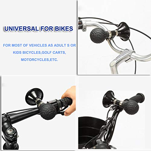 Bugle Horn for Bikes - Bicycle Retro Clown Horn,Classic Metal Loud Handlebars Mount Rubber Squeeze Loudspeaker Air Horn Hooter Horn Bell Ring for Cycling, Adults Vehicles Bicycles, Bikes