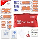 I GO Mini First Aid Kit, 95 Pieces Small First Aid Kit, includes Instant Ice Pack, Scissors for Home, Office, Workplace, Hiking Camping and Outdoors