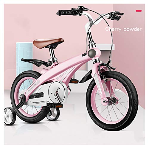 KXDLR kinderfiets met trainingswielen voor 12 14 16 inch fiets, licht magnesiumlegering frame met schijfrem, verstelbaar