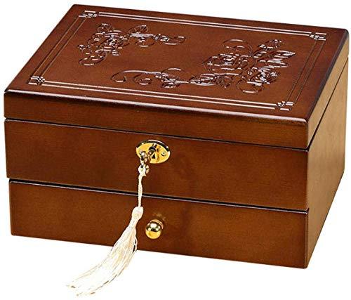 Cajas de joyería Caja de Almacenamiento de Joyas de Madera Vitrina Vintage...
