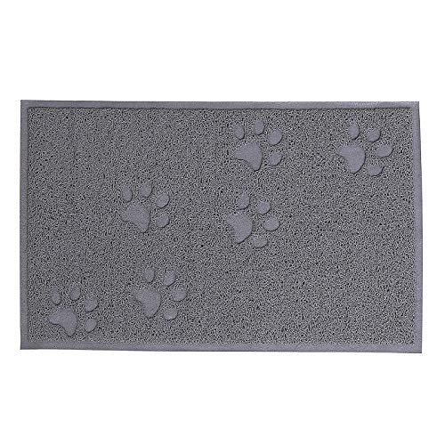 dibea CM00340, Vorleger für Katzentoilette, PVC, 32 x 45 cm, Katzenstreu-Matte fängt Streu einfach auf, leicht zu reinigen, Katzenklomatte, Katzenmatte, Katzenklo Unterlage