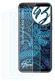 Bruni Schutzfolie kompatibel mit Lenovo K5 Note (2018) Folie, glasklare Bildschirmschutzfolie (2X)