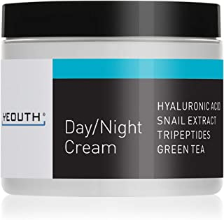 YEOUTH Day Night Moisturizer for Face with Snail Extract, Hyaluronic Acid, Green Tea, and Peptides, Anti Aging Day Cream o...