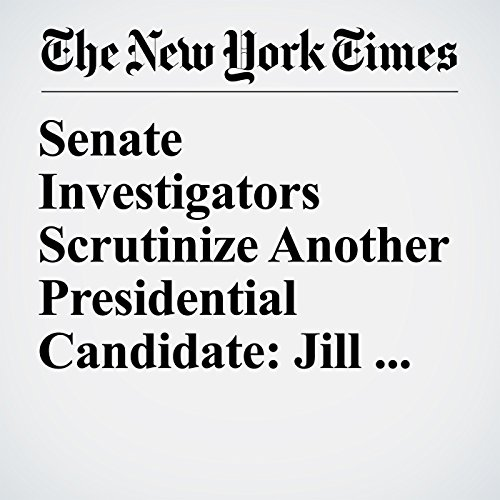 Senate Investigators Scrutinize Another Presidential Candidate: Jill Stein copertina