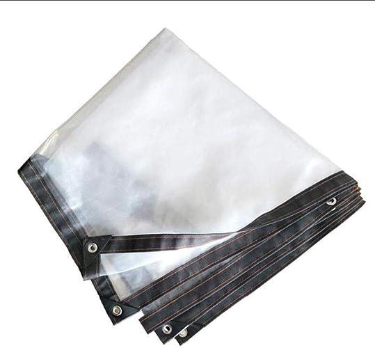 HCYTPL Bache Claire imperméable avec l'isolation Thermique Anti-Pluie extérieure d'oeillets antipoussière, pour Le Patio de Camping de Jardin, épaisseur 0.12mm,5  6m