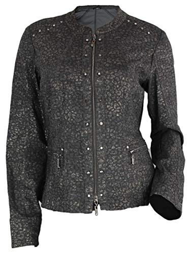 Biba Damen Jacke Blazer 422 Lovely Smaragd braun Glitzer (36)