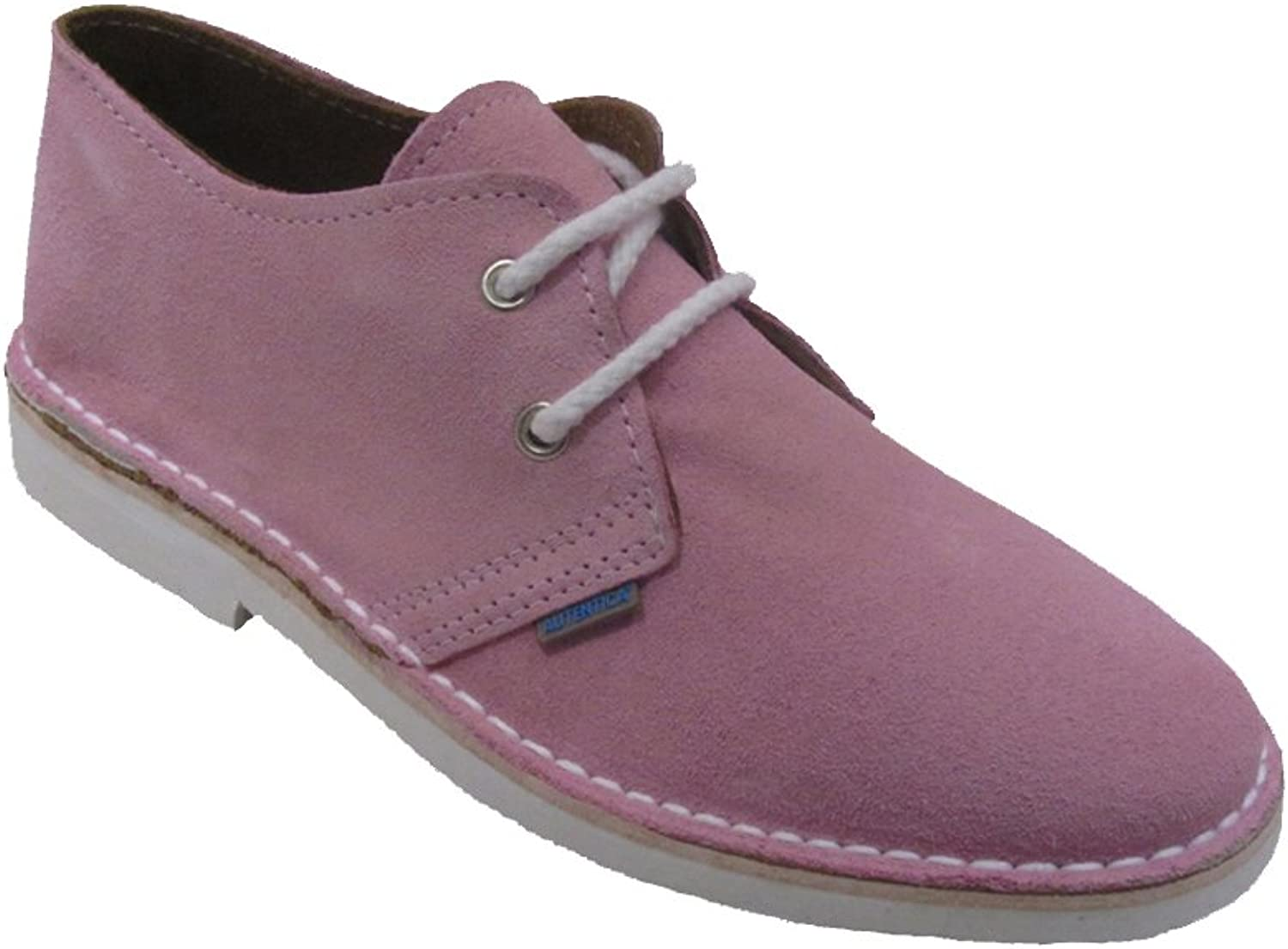 La Auténtica K901PC - Suede shoes with Combined colors, Unisex Adult, Pink Baby - White