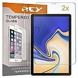 2X Protector de Pantalla para Samsung Galaxy Tab S4 10,5', Cristal Vidrio Templado Premium, Táblet