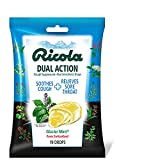Ricola Dual Action Cough Suppressant Drops, Glacier Mint, 19 Drops Per Pack (3 Packs)