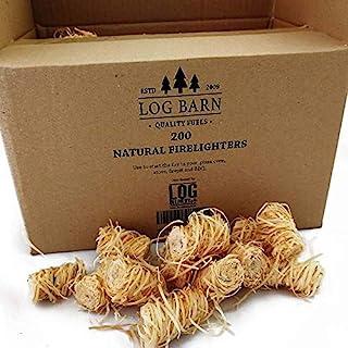 Encendedores de madera natural ecológica – 200 encendedores de llama de lana de madera por caja. Ideal para iluminación de...
