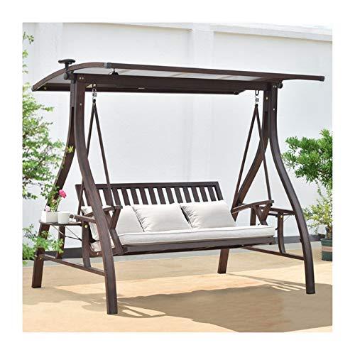 WANGQW Muebles de Patio al Aire Libre Swing Glider con Soporte, Sillas de Swing al Aire Libre con Dosel y Cojines, jardín Swing Dazz Dazz Hammocks Swing Banco Adecuado para Patio, balcón