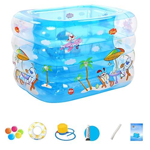 Baignoire adulte de piscine pour enfants avec piscine gonflable familiale (Couleur : A)