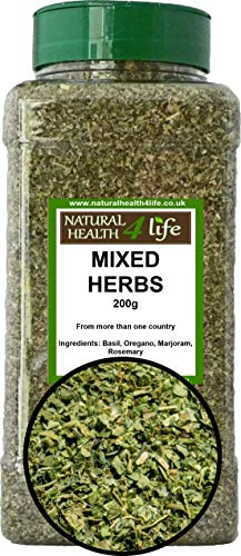 Mixed Herbs in a PET jar with Shaker lid - Dried Culinery Herb Mix - 200g