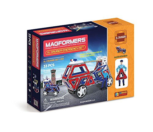Magformers XL Cruisers Emergency Set (33-pieces)