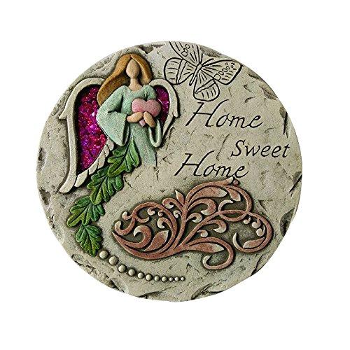 Comfy Hour Farmhouse Home Decor Collection 10' Angel Home Sweet Home Garden Stepping Stone, Concrete