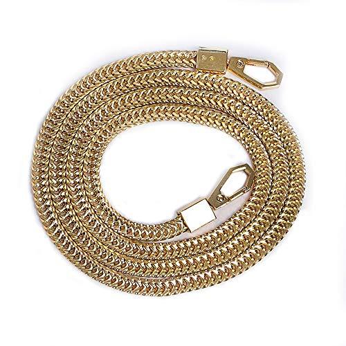 Tingz Taschenketten Umhängetaschenkette Handtasche Cross Body Purse Ersatzkette,Ungeschweißte Metallketten mit Aluminiumverschlüssen(120cm/47 Zoll) (Gold)