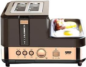SCKMBJ Tostadora de 2 rebanadas, tostadoras de Pan de Acero Inoxidable con Rejilla de Calentamiento Prime, Ranuras Extra Anchas, 6 configuraciones de Cortinas de Pan, función de descongelación/recal