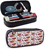 KLKLK Estuche Fashion Pencil case Trendy Woman Make Up Elements with Calligraphy Blush Lipstick Powder Beauty Pattern School Supplies Multicolor
