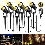Landscape Lights, ALOVECO 6-in-1 LED Garden Lights 12V Low Voltage IP65 Waterproof Outdoor