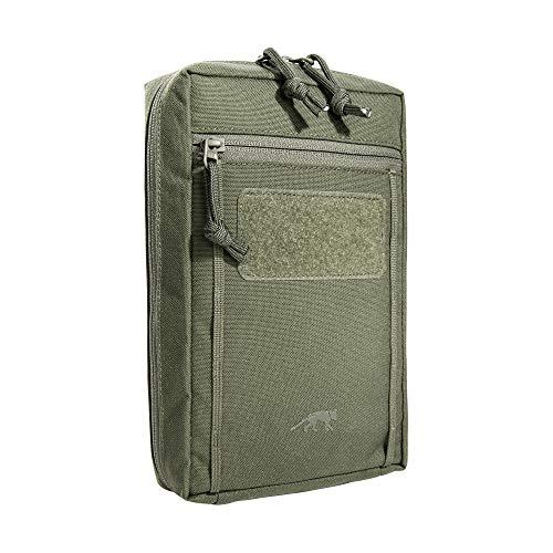 Tasmanian Tiger TT Tac Pouch 7.1 Rucksack Zusatz-Tasche mit Patch Klett-Fläche Molle-System kompatibel, Zubehör-Tasche für EDC, Werkzeug oder kleine Erste Hilfe Sets, 24 x 15 x 6 cm, Olive
