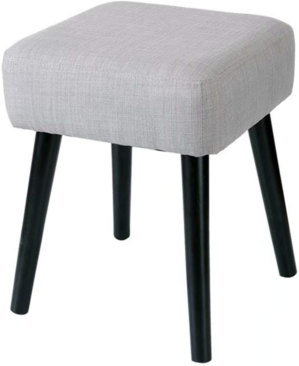 Change shoes Bench Solid Wood Stool Fabric Sofa Bench Makeup, Kitchen, Living Room Stool 4 Leg