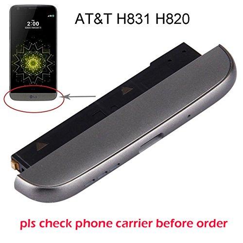 ogodeal Modul + Mikrofon + Lautsprechermodule + Unterkinnabdeckung + Handy-Akku Aufladung USB Slim Port Assembly Ersatz für LG G5 At&T Carrier H831 H820 (Titangrau)