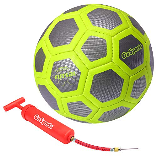 GoSports Elite Futsal Ball - Great for Indoor or Outdoor Futsal Games or Practice – Choose Between Single or Six Pack - Includes Pump