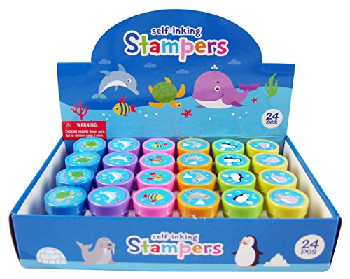 Tiny Mills 24 Pcs Ocean Life Stampers for Kids