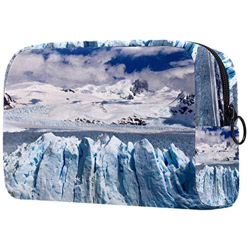 Trousses de Toilette,Vue aérienne de la Montagne de Neige des Icebergs ,Trousse de Maquillage,Trousse de Maquillage pour Femmes et Filles,Trousse de Rangement