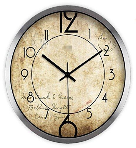 Sucastle® 12 in metal Reloj de Pared 3D con Números Adhesi
