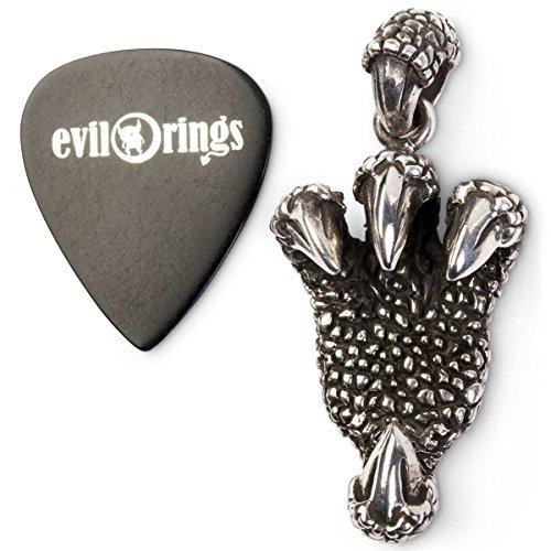 Adlerklauen-Kettenanhänger aus Sterling Silber mit Gitarren Plektrum
