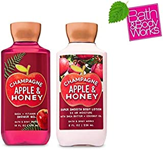 Bath and Body Works CHAMPAGNE APPLE & HONEY DUO - Body lotion and Shower Gel Full Size