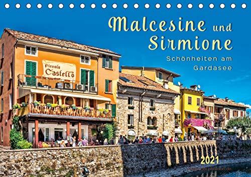 Malcesine und Sirmione, Schönheiten am Gardasee (Tischkalender 2021 DIN A5 quer)