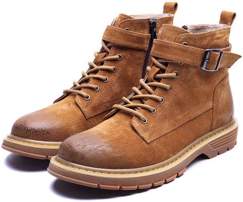 Men's Boots Men Martin Boots, Autumn Winter Men's shoes, British Leisure