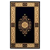 SUPERIOR Elegant Medallion Collection 5X8 Area Rug, Midnight Blue