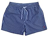 Ralph Lauren Polo Traveler - Costume a Pantaloncini, a Righe, Colore: Blu Navy Marina Militare M