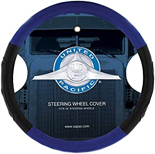 """United Pacific 70405 Black and blue 18"""" Steering Wheel Cover"""