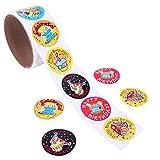 Etiquetas engomadas coloridas del cumpleaños Pegatina para el regalo de la recompensa creativa de los favores de partido de los niños size 100 Stickers