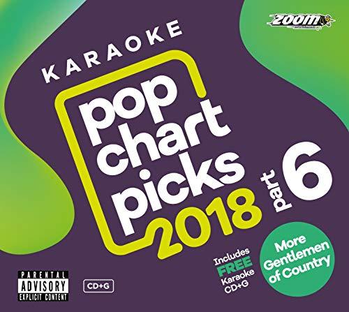 Zoom Karaoke CD+G - Pop Chart Picks 2018 (Part 6) inc. A Star Is Born + FREE Country Gentlemen CD+G