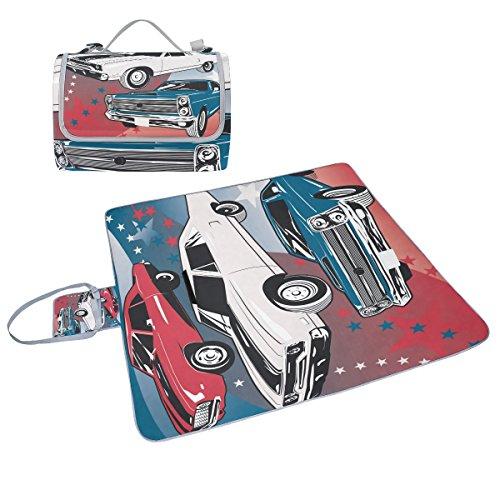 Coosun-Auto-Picknick-Decke Tasche Handy Mat Schimmel resistent und wasserdicht Camping-Matte für rving, Picknickdecke, Strand, Wandern, Reisen und Ausflüge