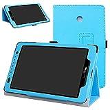 Mama Mouth for Ellipsis 8 /Ellipsis Kids 2015 Case,Slim Folio 2-Folding Stand Cover for 8' Verizon Ellipsis 8 4G LTE/Ellipsis Kids QTAQZ3KID 2015 Tablet,Light Blue
