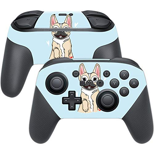 MightySkins Skin Compatible with Nintendo Switch Pro Controller - Frenchie Love | Protective, Durable, and Unique Vinyl Decal wrap Cover | Easy to Apply, Remove, and Change Styles | Made in The USA