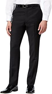 Men's Classic Fit Flat Front Tuxedo Pants - Comfort Fit Expandable Waist