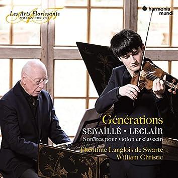 """""""Générations"""" Senaillé & Leclair : Sonatas for Violin and Harpsichord"""