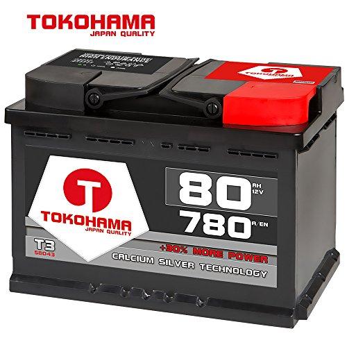 Tokohama Autobatterie 12V 80AH Starterbatterie ersetzt 70Ah 72Ah 74Ah 77Ah 85Ah